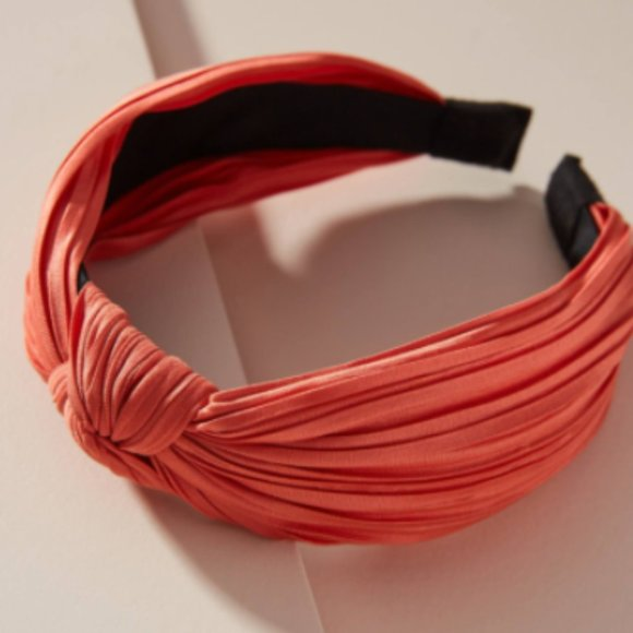 Anthropologie Lauren Knotted Headband in Coral